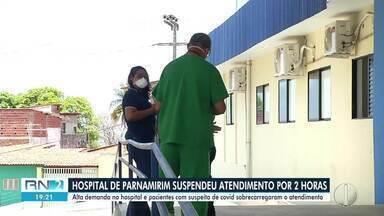Hospital de Parnamirim suspendeu atendimento por 2 hs por lotação - Hospital de Parnamirim suspendeu atendimento por 2 hs