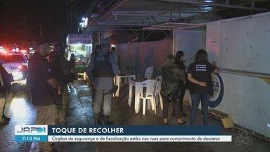 Fiscalização flagra lanchonetes e restaurantes abertos em horário não permitido em Macapá - Fiscalização flagra lanchonetes e restaurantes abertos em horário não permitido em Macapá