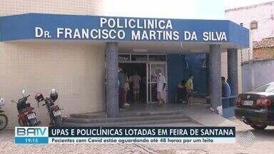 Pandemia: UPAS e Policlínicas de Feira de Santana sofrem com superlotação de pacientes - A sobrecarga está ligada ao crescimento das taxas de ocupação de leitos em hospitais para tratamento da Covid na cidade.