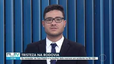 Ex-vereador de Itaocara, RJ, e esposa morrem em acidente de carro - Veículo capotou e caiu em ribanceira em São Fidélis, no Norte Fluminense.
