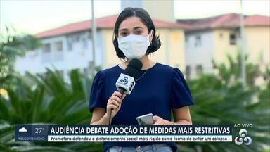 Audiência debate adoção de medidas mais restritivas em Rondônia - Promotora defendeu o distanciamento social mais rígido como forma de evitar um colapso.