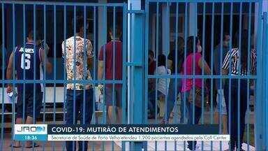 Secretaria de Saúde de Porto Velho realizou 1.200 testes rápidos nesta sexta-feira, 12 - Ação conjunta foi realizada apenas hoje, 12, e todas as pessoas que testaram positivo para a Covid-19, já saíram medicados com kit de remédios.