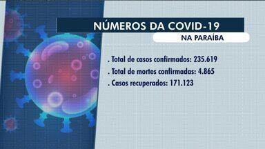 Subiu para 235.619 o número de casos registrados de Covid-19 na Paraíba - Veja outros dados da pandemia no Estado.