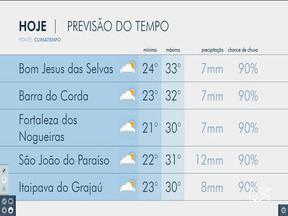 Veja as variações das temperaturas no Maranhão - Confira a previsão do tempo na manhã desta terça-feira (16) em São Luís e também no interior do estado.