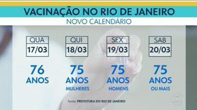 Rio retoma calendário após chegada de vacinas - Outros municípios devem receber novos lotes a partir desta quinta-feira (18).