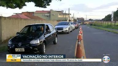 Casos e mortes por Covid-19 avançam no interior de São Paulo - Sorocaba iniciou a vacinação dos idosos 74+. Em Votuporanga, a preocupação é pela possível falta de oxigênio.