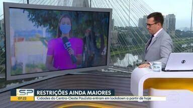 Tupã e outras cidades do interior adotam medidas mais restritivas que o Plano SP - Municípios optaram por lockdown pra tentar conter disseminação do novo coronavírus.