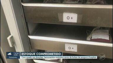 Bancos de sangue da região de Campinas enfrentam queda de doações durante a pandemia - Hemocentro da Unicamp, em Campinas (SP), e Hospital Municipal de Americana (SP) são algumas das unidades que estão com o estoque abaixo do recomendado.