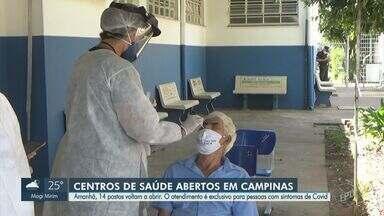 Campinas oferece atendimento a pessoas com sintomas de Covid-19 em 14 unidades de saúde - Interessados podem procurar os locais das 7h às 17h.