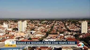 Saiba a previsão do tempo para este início de semana - Confira como ficam as temperaturas no Oeste Paulista.