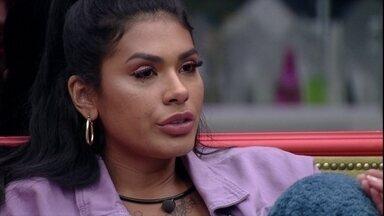 Após saída de Carla Diaz no BBB21, Pocah afirma: 'Não mudo minha percepção de jogo' - Após saída de Carla Diaz no BBB21, Pocah afirma: 'Não mudo minha percepção de jogo'