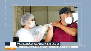 Vacinação de idosos com 70 anos acontece em Lages até o final de semana - Vacinação de idosos com 70 anos acontece em Lages até o final de semana