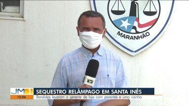 Sequestro-relâmpago em Santa Inês - Bandidos levaram o gerente de loja com parentes e uma vizinha.