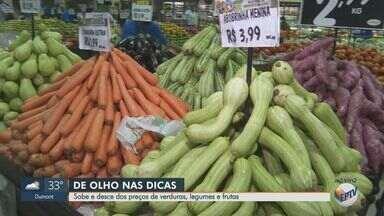 Veja dicas para economizar na compra de verduras, legumes e frutas - Batata, cenoura e chuchu estão entre os produtos com preços mais baixos.