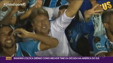 Ranking coloca Grêmio como melhor time da década na América do Sul - Condecoração foi dada pela Federação Internacional de História e Estatísticas do Futebol.