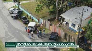Fala Comunidade: Em Manaus, moradores do Ramal do Brasileirinho pedem socorro - População pede melhorias na infraestrutura, segurança e atenção à saúde.