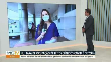 Covid-19: Todos os leitos de UTI estão ocupados no Hospital Universitário - Hospital enfrenta dificuldades para adquirir medicamentos usados na sedação de pacientes.