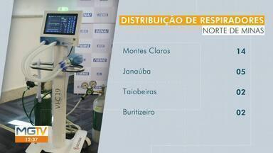 Norte de Minas recebe 35 respiradores doados pela Fiemg - Equipamentos serão distribuídos em hospitais de nove cidades da região.