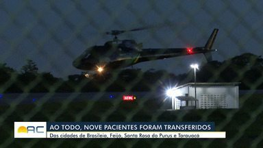 Ao todo, nove pacientes chegam à capital acreana transferidos do interior - Ao todo, nove pacientes chegam à capital acreana transferidos do interior