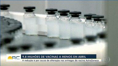 Mais de 9 milhões de vacinas contra a Covid-19 foram distribuídas em abril - Mais de 9 milhões de vacinas contra a Covid-19 foram distribuídas em abril