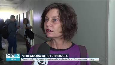 Vereadora da BH renunciou ao cargo - Sônia Lansky alegou motivo de saúde, suplente Pedro Patrus assume o cargo.