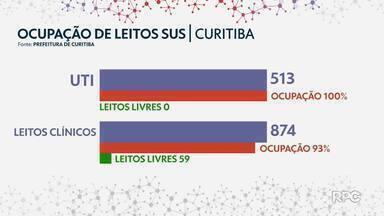 Curitiba abre mais 21 leitos de UTI - Mesmo assim, ocupação estava em 100% nesta quarta-feira (24).