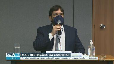 Com lotação de leitos, Campinas anuncia medidas mais restritivas de isolamento - Decreto passa a valer a partir desta sexta-feira (26). Cidade está 95% de ocupação nas UTIs municipais. Na rede particular, a taxa é de 92%.