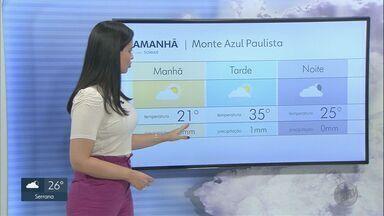 Veja a previsão do tempo para esta quinta-feira (25) na região Ribeirão Preto - Dia será quente e seco na maioria das cidades.