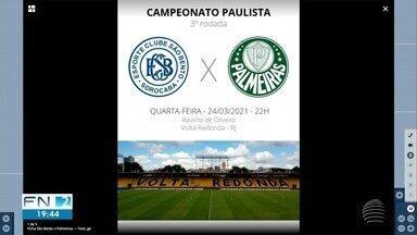 Palmeiras entra em campo nesta quarta-feira pelo Campeonato Paulista - Veja outros destaques do ge.