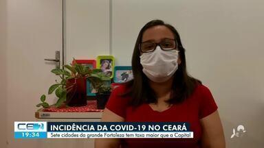 As 10 cidades da grande Fortaleza concentram 40% do total de casos de Covid do Ceará - Confira mais notícias em g1.globo.com/ce