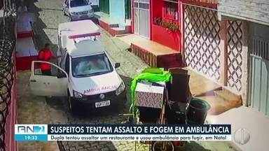 Dupla tenta assalto e foge levando ambulância - Dupla tenta assalto e foge levando ambulância