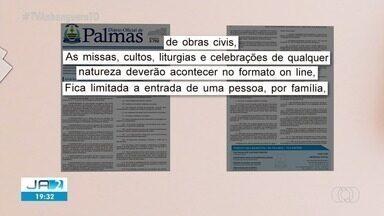 Prefeitura de Palmas prorroga decreto com alterações - Prefeitura de Palmas prorroga decreto com alterações
