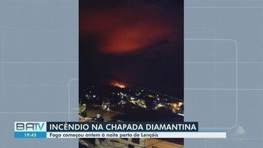 Incêndio continua em trecho do Parque Nacional da Chapada Diamantina, perto de Lençóis - Fogo, que começou na terça-feira (23), ainda não foi controlado.