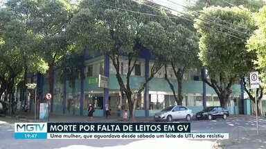 Idosa que morreu à espera de leito de UTI é enterrada em Governador Valadares - Uma idosa, de 67 anos, aguardava uma vaga desde o sábado (20).