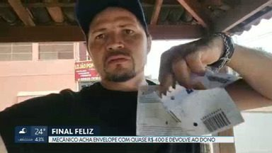 Mecânico de Sobradinho acha envelope com dinheiro e devolve ao dono - Ele publicou um vídeo nas redes sociais para encontrar quem havia perdido os quase R$ 400.