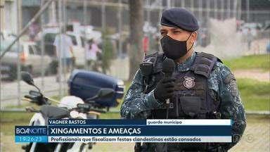 Agentes da AIFU relatam ameaças e xingamentos durante fiscalizações - Dizer o óbvio se tornou uma tarefa difícil para quem trabalha no combate à pandemia.