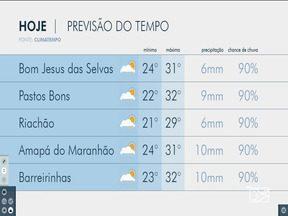 Veja as variações das temperaturas no Maranhão - Confira a previsão do tempo na manhã desta terça-feira (30) em São Luís e também no interior do estado.