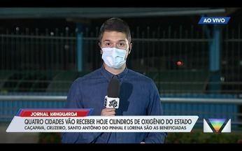 Quatro cidades do Vale recebem cilindros de oxigênio do Estado - Confira a reportagem exibida pelo Jornal Vanguarda.