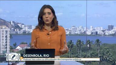 'Desenrola, Rio' fala sobre desafios no transporte da Região Metropolitana - Em novo episódio de podcast, Edimilson Ávila recebe o professor de Engenharia de Transportes da Coppe/UFRJ Ronaldo Balassiano.