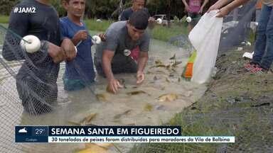 Semana Santa tem distribuição de peixes em Presidente Figueiredo - 30 toneladas de peixes foram distribuídos para moradores da Vila de Balbina