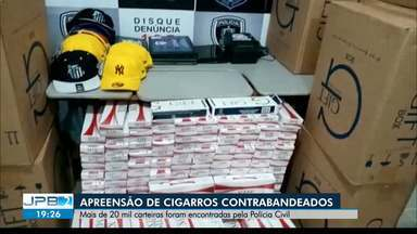 Carga com mais de 20 mil cigarros contrabandeados é apreendida na PB - Mercadoria foi apreendida em Campina Grande, durante operação policial.