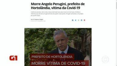 Prefeito de Hortolândia morre de covid - Angelo Perugini tinha 65 anos.