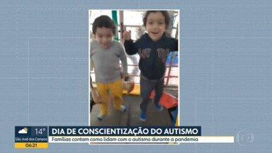 Famílias contam como é lidar com o autismo na pandemia - Dia 02/04 é o dia mundial de conscientização do autismo.