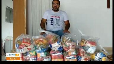 Ações solidárias se multiplicam durante a pandemia, na Paraíba - Grupos voluntários promovem doações de alimentos para famílias carentes.