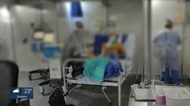 Taxa de ocupação de UTIs chega a 91,8% em SP - Na rede municipal da capital, chegou aos 93%. Há dias, a situação preocupa, porque tem hospitais sem nenhum leito vago.