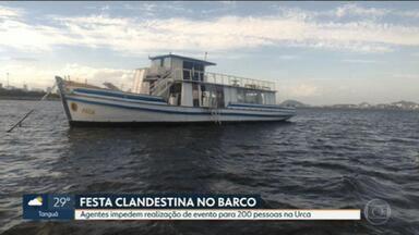 Guardas Municipais impedem festa clandestina, na Urca, para 200 pessoas - Secretaria municipal de Ordem Pública monitorou o evento que aconteceria dentro de um barco.