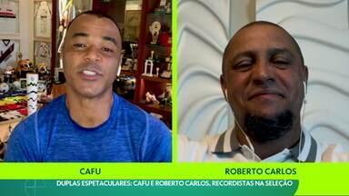 Duplas espetaculares: Cafu e Roberto Carlos bateram recordes e fizeram história na Seleção - Duplas espetaculares: Cafu e Roberto Carlos bateram recordes e fizeram história na Seleção