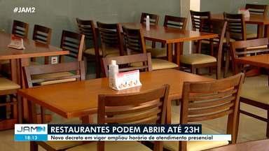 Restaurantes em Manaus podem abrir até 23h - Novo decreto em vigor ampliou horário de atendimento presencial