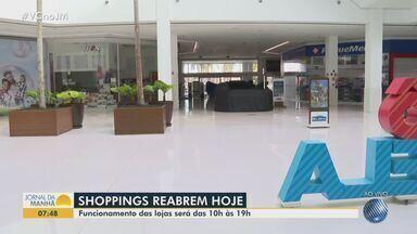 Shoppings voltam a funcionar nesta terça-feira em Salvador; confira - Reabertura dos centros de compras segue o plano da prefeitura para a retomada das atividades econômicas da cidade.