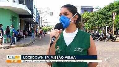Vigilância sanitária fiscaliza fila para caixa eletrônico em Missão Velha - Saiba mais em g1.com.br/ce